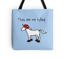 They See Me Rolling - Roller Derby Unicorn Tote Bag