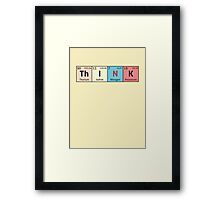 Periodic Table - Think Framed Print