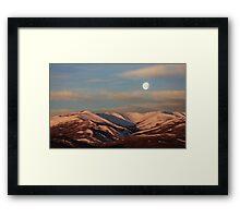 Moonset in Paradise Framed Print