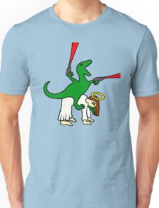 Dinosaur Riding Jesus Unisex T-Shirt