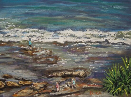 Fun on the rocks by Dianne  Ilka