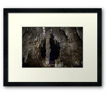 Big Column Cavern Framed Print