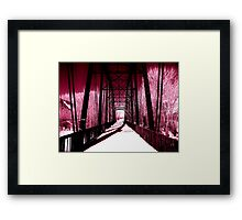 Pink Winter Walk Framed Print