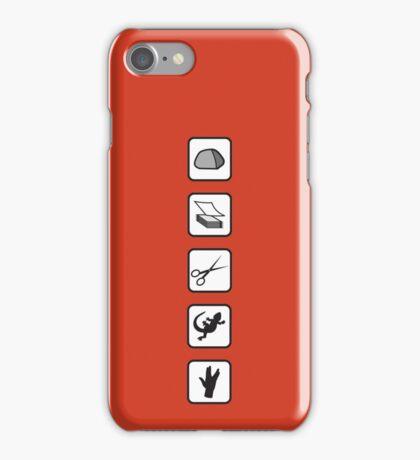 Rock-Paper-Scissors-Lizard-Spock iPhone Case/Skin