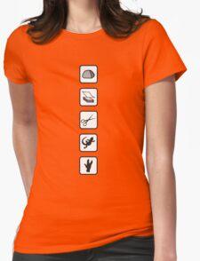 Rock-Paper-Scissors-Lizard-Spock Womens Fitted T-Shirt