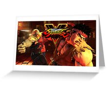 street fighter 5 ryu Greeting Card