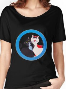 Manga Cats in love, hand painted Women's Relaxed Fit T-Shirt