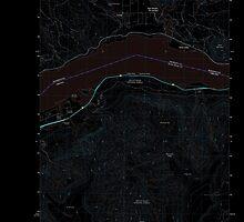 USGS Topo Map Washington State WA Carson 20110816 TM Inverted by wetdryvac