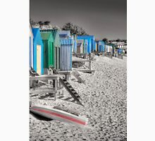 BHCS bw Abersoch beach huts hand coloured look Unisex T-Shirt