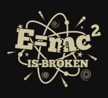 E=mc2 is broken - Dark Kids Tee