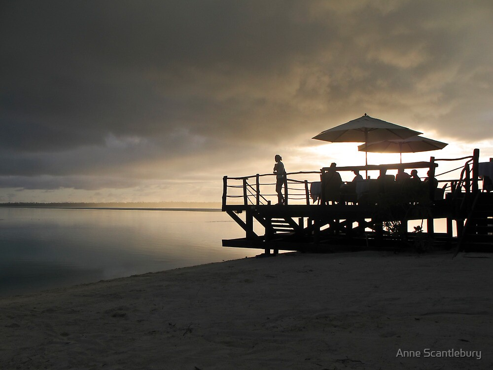 jetty at sunset by Anne Scantlebury