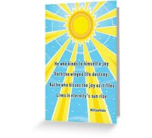 Sunshine Joy Greeting Card