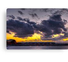 Sunset Over Edmonds Marina Canvas Print