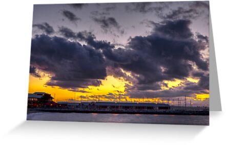 Sunset Over Edmonds Marina by Jim Stiles