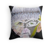 sp on grey paper Throw Pillow