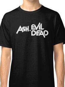 ASH VS EVIL DEAD TITLE White  Classic T-Shirt