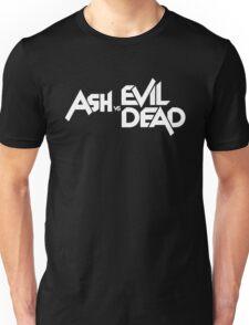 ASH VS EVIL DEAD TITLE White  Unisex T-Shirt