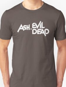 ASH VS EVIL DEAD TITLE White  T-Shirt