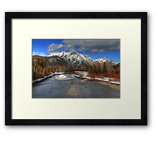 Winter in the Rockies (HDR) Framed Print