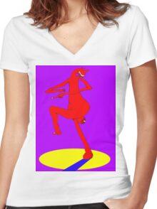 Spare Leg Women's Fitted V-Neck T-Shirt