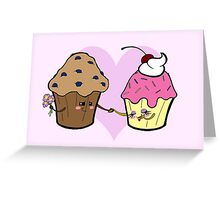 Muffin loves Cupcake Greeting Card
