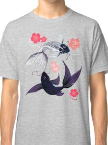 Yin and Yang Koi and Cherry Blossoms Classic T-Shirt