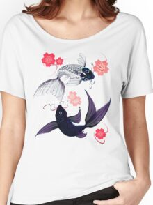 Yin and Yang Koi and Cherry Blossoms Women's Relaxed Fit T-Shirt