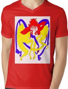 Red Heads Rutting Mens V-Neck T-Shirt