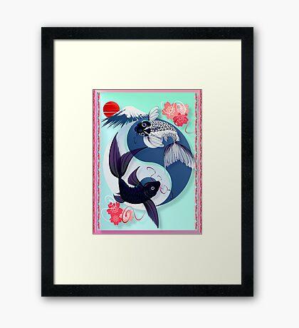 Yin and Yang Koi Framed Print