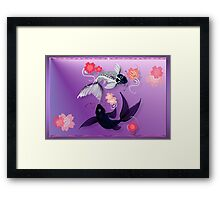 Yin and Yang Koi and Cherry Blossoms Framed Print