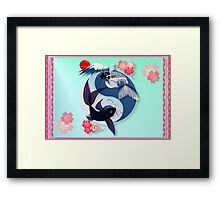 Yin and Yang Koi Framed Print