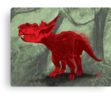 Pachyrhinosaurus Canvas Print