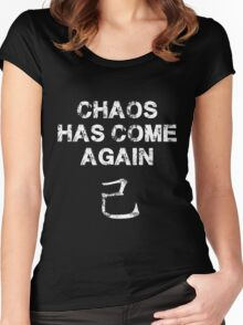 Chaos has come again Women's Fitted Scoop T-Shirt