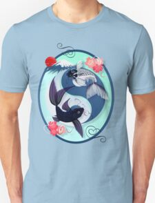 Yin and Yang Koi Oval T-Shirt
