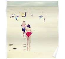 Red Bathers Poster