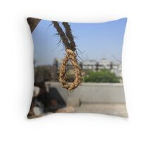 The Noose of Modern Life Throw Pillow