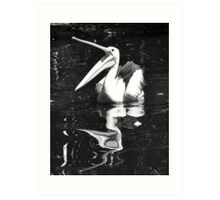 Happy Pelican Art Print