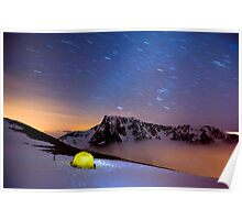 Star Trails over Ben Nevis Poster