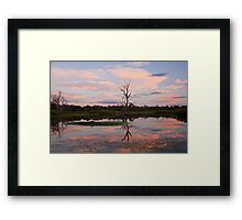 Wonga Wetlands Sunset Framed Print