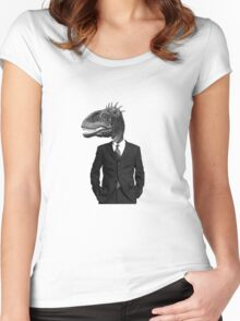 The Saurus Society - No Extinction Theory Women's Fitted Scoop T-Shirt