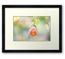 When you are dreaming with a broken heart Framed Print