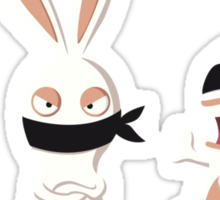 The three wise Rabbids ! Sticker