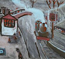 Goathland station by sword
