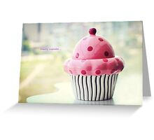 Cherry cupcake Greeting Card