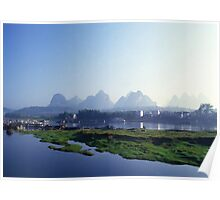 Mountains of Yangshuo Guilin Poster
