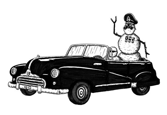 Dictator pen ink black and white drawing by Vitaliy Gonikman