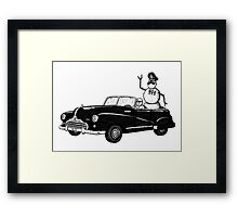 Dictator pen ink black and white drawing Framed Print