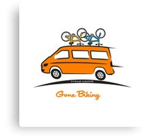 Mercedes Sprinter Gone Biking Canvas Print