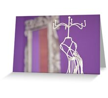 Purple corner Greeting Card