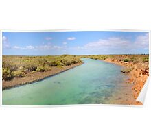 Little Lagoon Creek, landscape Poster